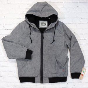 Levi's Bomber Jacket Faux Shearling Lined Gray
